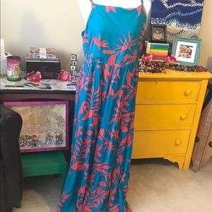Tropical Old Navy Maxi Dress Like New